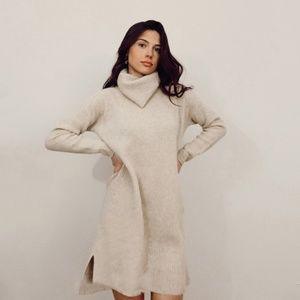 madewell merino wool turtleneck sweater dress